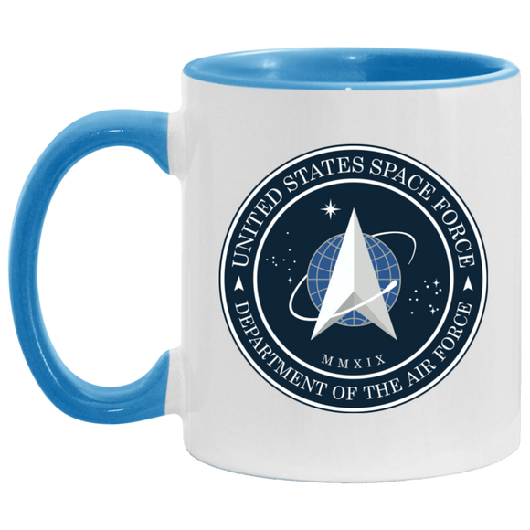 Official Space Force Seal Accent Mug