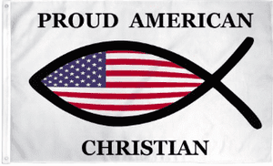 Proud American Christian Flag