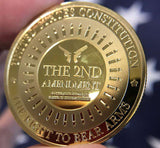 "[LIMITED] The Second Amendment ""Legacy"" Collectable 24K Gold Plated Coin"