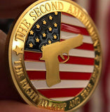 Pro-Gun Rights Full Color Collectable Coin - 24K GOLD Plated