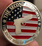 Pro-Gun Rights Full Color Collectible Coin - SILVER Plated