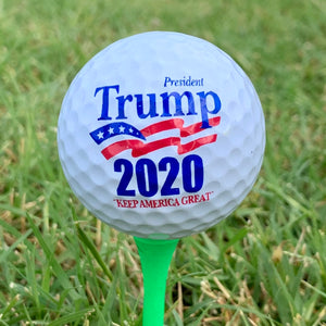 Trump 2020 White Golf Ball