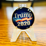 Round Blue Trump 2020 Lapel Pin