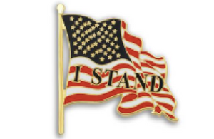 """I Stand"" Flag Lapel Pin"