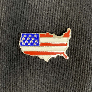 USA Shaped Flag Lapel Pin
