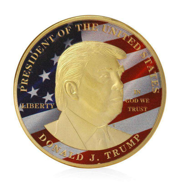 Gold President Trump MAGA Commemorative Coin