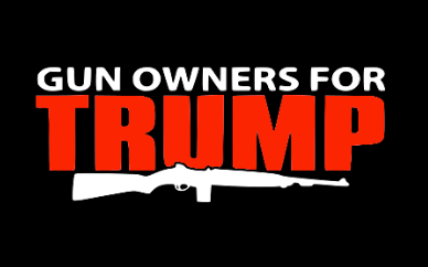 Gun Owners For Trump Flag
