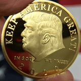 President Trump 2020 'Keep America Great' Re-Election Commemorative Gold Coin