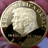 President Trump 2020 'Keep America Great' Re-Election Commemorative Gold Coin [Special Edition]