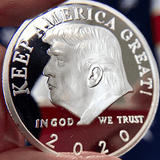 President Trump 2020 'Keep America Great' Re-Election Commemorative Silver Coin