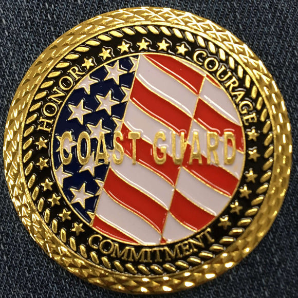 COAST GUARD VETERAN COIN