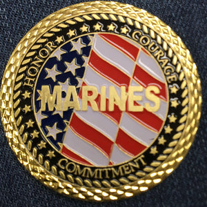MARINES VETERAN COIN