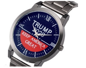 """Keep America Great"" Trump Watch - Navy Face"