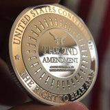 "[LIMITED] The Second Amendment ""Legacy"" Collectable Silver Plated Coin"