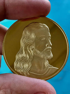 Jesus Christ Last Supper Collectable Coin - Gold Plated