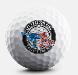 Let Freedom Ring Golf Ball