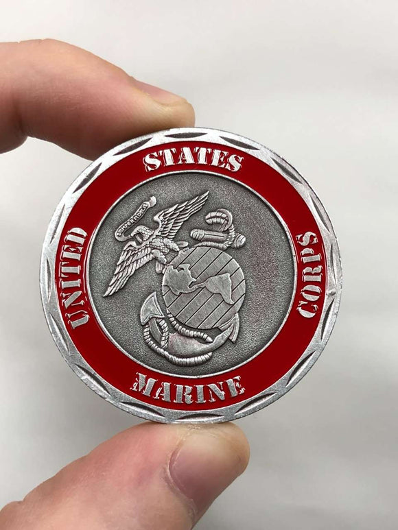 Death Smiles At Everyone, Marines Smile Back Coin [Marine Corp Edition]