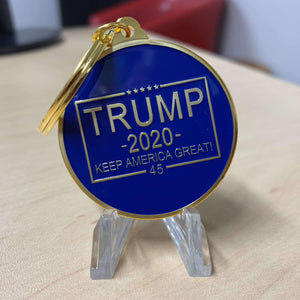 Trump 2020 'Keep America Great' Gold Plated Keychain