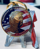 MAGA Gold-Plated Trump Christmas Ornament