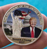 Full Color TRUMP Collectable Silver Coin