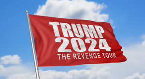"Red Trump 2024 ""The Revenge Tour"" Flag"
