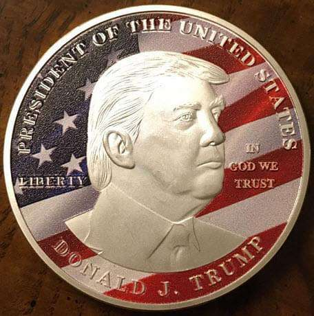 President Donald J. Trump 'Make America Great Again' Commemorative Silver Keepsake Coin