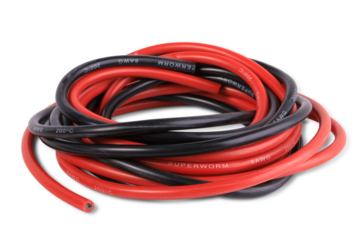 Superworm Silicone Wire 8 Gauge flexible 8 AWG copper wire