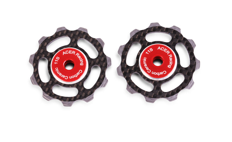 Carbon Fiber Cycling Jockey Wheels with Ceramic Bearings