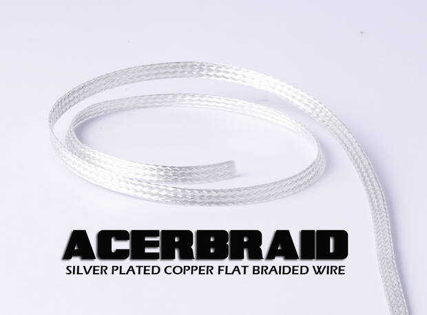 ACERBRAID Flat Braided Silver Plated Wire