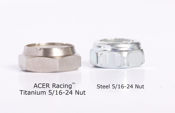 5/16-24 Titanium Skateboard Wheel Nuts 4 pieces