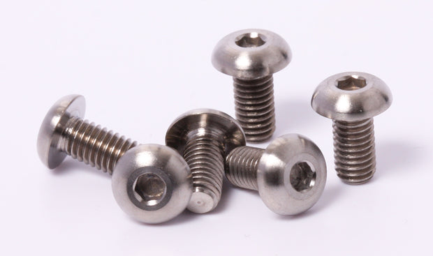 Titanium M5x10 Bicycle Brake Rotor Bolts 6 pieces