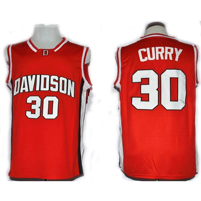 low priced a7fb0 b63a1 Stephen Curry College Jersey 30 Davidson Wildcat Basketball Jersey All  stitched