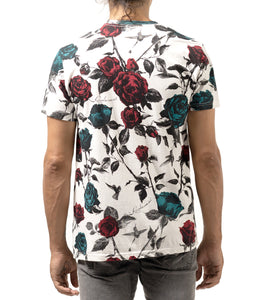 Crew Tshirt Rose Allover