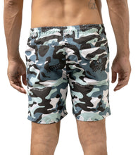Load image into Gallery viewer, Camo Skull Blue Swimshort