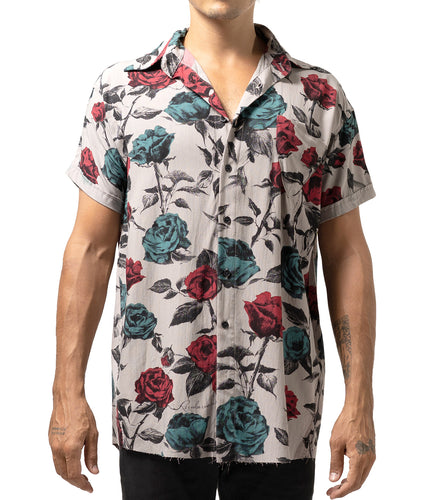 HAWAIAN S/S SHIRT ROSE FULL PRINT