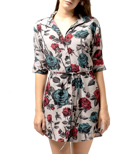 MALLORY SHIRT DRESS ROSE