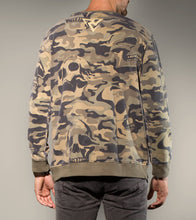 Load image into Gallery viewer, Camo Skull Sweatshirt