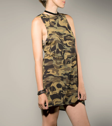Camo Skull FK Short Dress