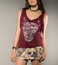 Load image into Gallery viewer, Skull Flower Ibiza Top