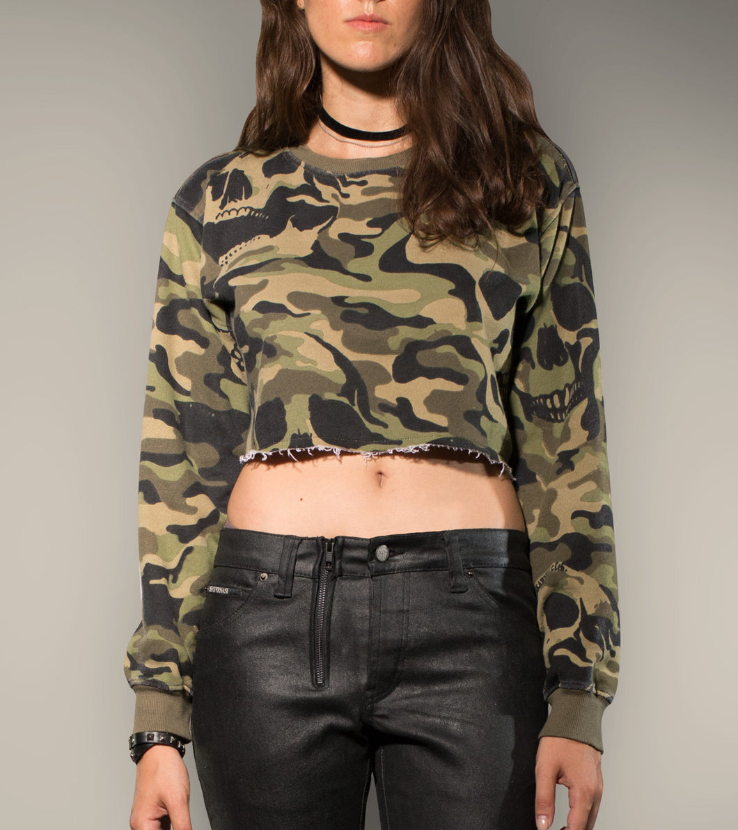 Camo Sweatshirt Crop