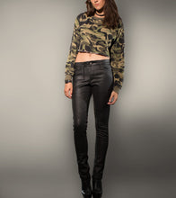 Load image into Gallery viewer, Camo Sweatshirt Crop