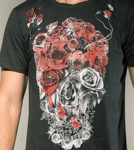Load image into Gallery viewer, Skull Flower Crew Tshirt