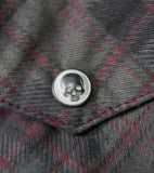 LS SHIRT FLANNEL SKULL BUTTON