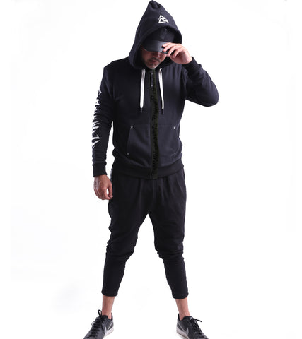 SKULL ICON HOODIE ZIP UP