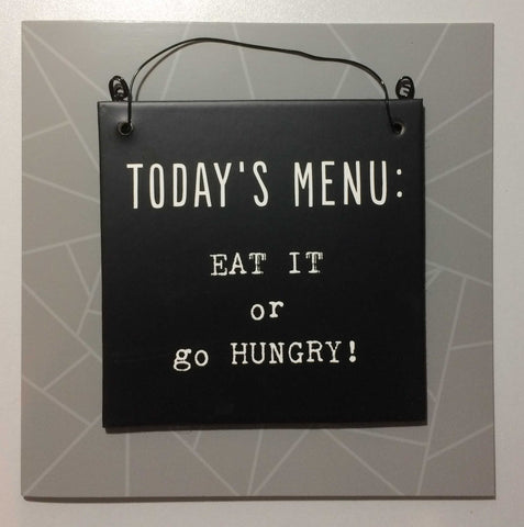 TODAY'S Menu Hanging Plaque & Greetings Card Type 0020
