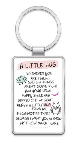A LITTLE HUG - Inspired Words Keyring Type 1001