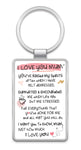 I LOVE YOU MUM - Inspired Words Keyring Type 1011