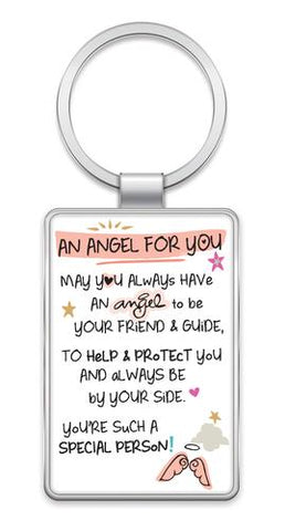 AN ANGEL FOR YOU - Inspired Words Keyring Type 1013