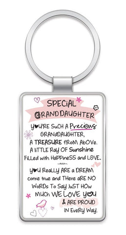 SPECIAL GRANDDAUGHTER - Inspired Words Keyring Type 1021
