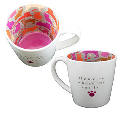 HOME IS WHERE MY CAT IS Inside Out Mug Type 135